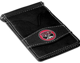 UNLV Rebels Black Leather Wallet Card Holder