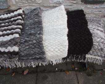 Peg Loom Rugs 100% Pure Wool Woven