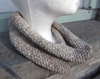 Handspun Cowl Scarf 100% Pure Wool