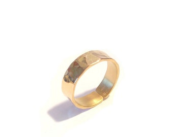 Gold Vermeil hammered ring
