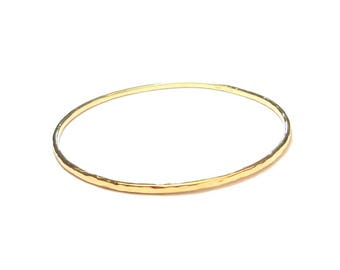 Bracelet gold vermeil ring
