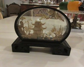 JAPAN EGRET SHADOW Box
