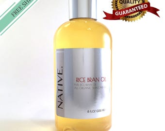 Pure Rice Bran Oil High Quality Organic Cold Pressed Oil All Natural by Native.