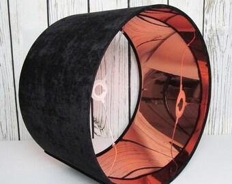 Black Copper Velvet Lampshade