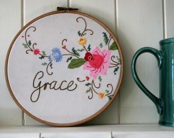 embroidery hoop art 'Grace'