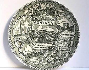 Vintage Montana Collectible Souvenir Plate