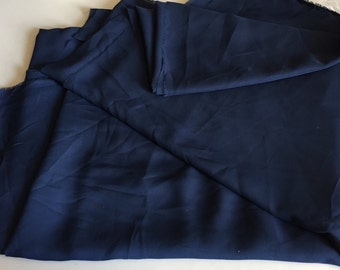 Navy Georgette (Double Chiffon), 4 5/8 yard piece, 58 inches wide, amazing quality