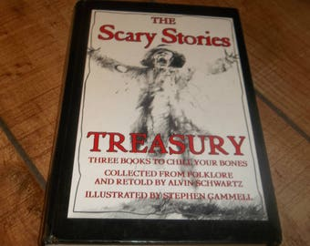 SCARY STORIES to Tell in the Dark Hardcover Treasury Stephen Gammell, Alvin Schwartz,  Children's Horror Tales  Ghastly Drawings