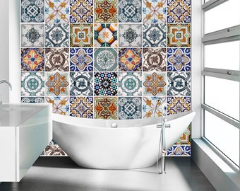 Kitchen Backsplash Tiles Backsplash Decal Backsplash Tile Portuguese Tiles Vinyl Backsplash
