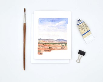 New Mexico State Art Card - New Mexico Notecard - New Mexico State Map Gift - New Mexico Art - Blank Notecard - New Mexico Landscape