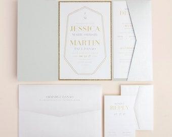 Crystal Luxe - Modern Wedding Invitation