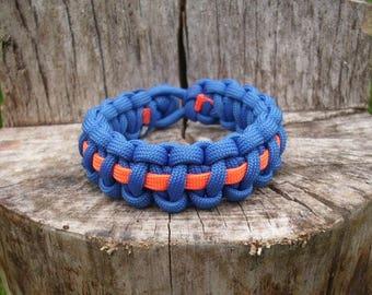 Striped Cobra Survival Paracord Bracelet, 550 Parachute Cord Jewelry,  Men's Para Cord Bracelet, Kids Paracord Bracelet