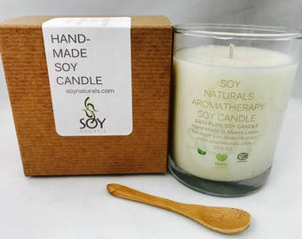 Clary sage Soy Essential Oil Container Massage Candle 10 oz