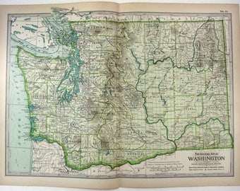 Original 1897 Map of Washington