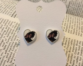 Edward Scissorhands Heart Earrings