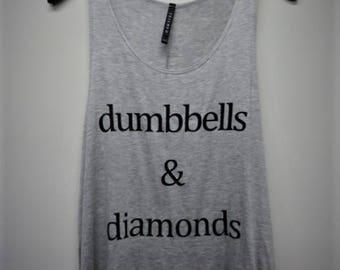 Dumbbells & Diamonds Graphic Women's Tank