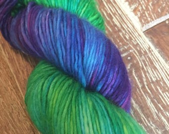 Hand Dyed Singles Superwash Merino DK/Light Worsted Yarn Wool, 100g/3.5oz, 'Teenage Kicks'