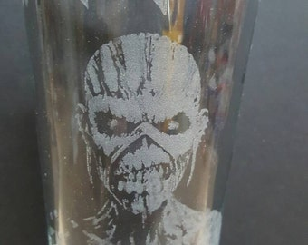 Iron Maiden Book of Souls - Laser Etched Pint Glass
