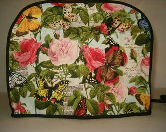 Toaster Cover, 2 slice, butterfly/roses