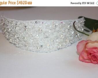 SALE 25% Wedding Tiara Wedding Headband Crystal Tiara Embroidered headband wedding embroidery Bridal Accessory wedding fashion bea