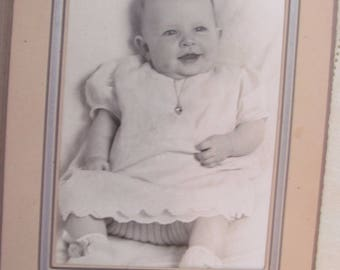 Vintage Studio Photo of a Happy Baby