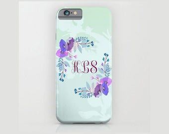 Custom Device case for iPhone 5/5s, iPhone 6/6s, iPhone 7 / 7s, Samsung, Galaxy, Phone, Monogram, Floral, Custom, Classic, Gift, Christmas