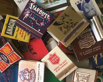 70s & 80s MATCHBOOK LOT / vintage matches bars restaurants hotels casinos bar san diego las vegas matchcovers match covers cover book books