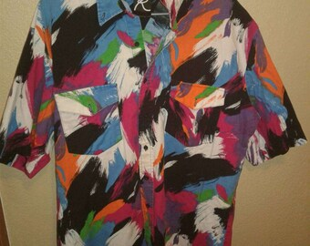 Big and Tall Xxlt mens vintage button up shirt Free shipping!