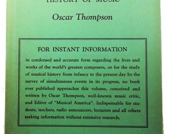 1936 Tabulated Biographical History of Music Nice!