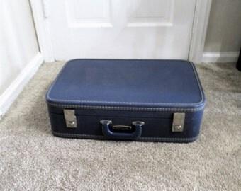 Vintage, Blue, Travel Smart  Suitcase