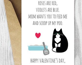 DIY Valentine Card Printable Funny Valentine Cards Funny Cat