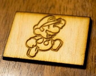 Mario Wood Magnet - Nintendo/Mario - Laser Cut and Engraved
