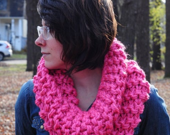 Outlander cowl, Hand knit cowl, pink cowl, snood scarf, gift for her, Christmas gift, Valentine's gift, accessories