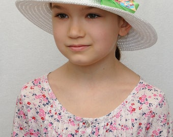 Summer Girls hats Crochet hat Girls Bow hat baby girl hats girls sun hat wide brim hat sun hat Kids hats Kids gift girl gifts baby gift
