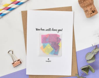 Congratulations, Well Done You, Celebration Confetti Card