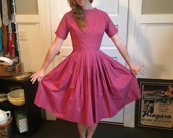 Vintage 1950s Cotton Day Dress
