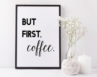 kaffee spruch etsy. Black Bedroom Furniture Sets. Home Design Ideas