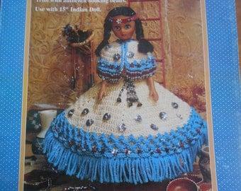 Indian Princess II, Fibre Craft, Pattern Leaflet #FCM 355, 1993
