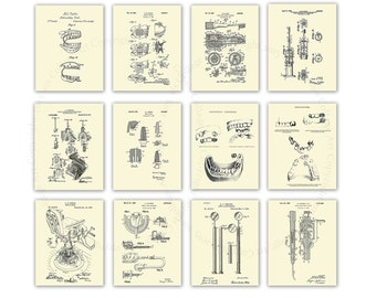 Dentist Office Decor set of 12 Dental Invention Patent Art prints Great as gifts for Dentist, Dental Hygienist Gift, Dentistry Art Decor