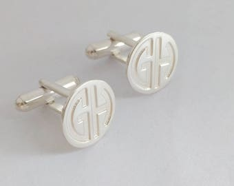 Personalized Wedding Cufflinks, Personalized Cufflinks Groom, Groomsmen Cufflinks, Engraved Cufflinks, Monogram CuffLinks, Cuff links Custom