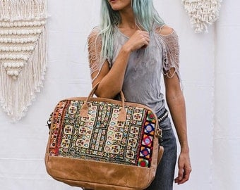 Embroidered Laptop Bag, Bohemian, Computer Bag, Laptop Messenger Bag, Laptop Shoulder Bag, Tribal Laptop Bag