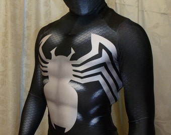 New -Black Symbiote Venom 2 Spider-Man 3D Printing With Muscle Shading Costume