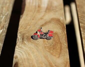 Vintage Red Motorcycle Lapel Pin