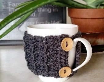 Waffle Coffee Mug Cozy, Cuffee Cup Cozy, Coffee Mug Sleeve, Coffee Cup Sleep, Crochet Coffee Cozy, Novelty Gift