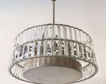 Gorgeous and large Mid Century Modern CHANDELIER | PENDANT LAMP | Rupert Nikoll or Bakalowits & Sons, 1960er Jahre