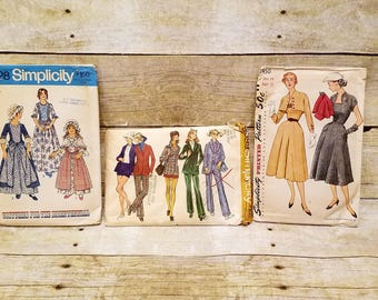 Vintage 1970's Simplicity Patterns - Set of 3