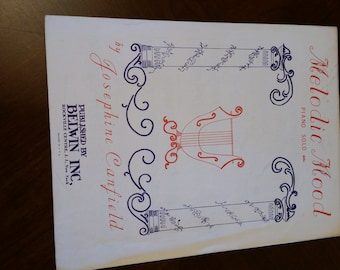 """Vintage sheet music """"Melodic Mood"""" by Josephine Cantfield"""