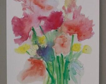 Spring Wildflowers - Watercolor Print