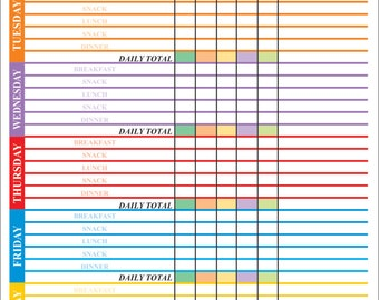 Weekly weight control chart dry erase magnetic, weight gain chart, weight loss table, weight control sheet, weight gain sheet, train sheet