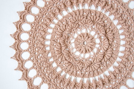 Crochet doily pattern TUULI, textured crochet, instant download